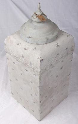 Afbeeldingen van Hoge Vierkante Oldlook grijze bokaal