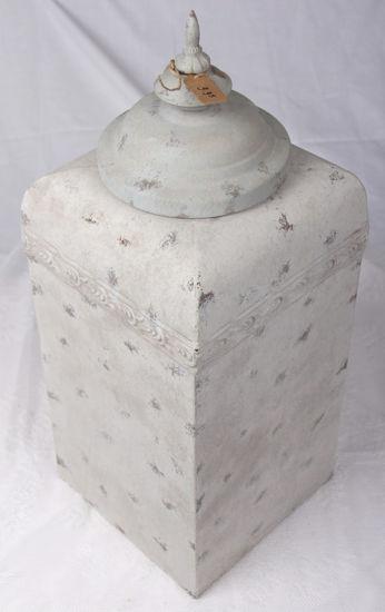 Afbeelding van Hoge Vierkante Oldlook grijze bokaal