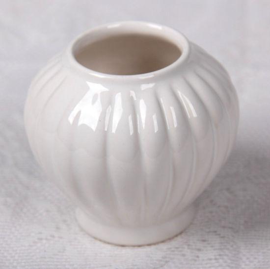 Afbeelding van Kleine bolvormig wit vaasje