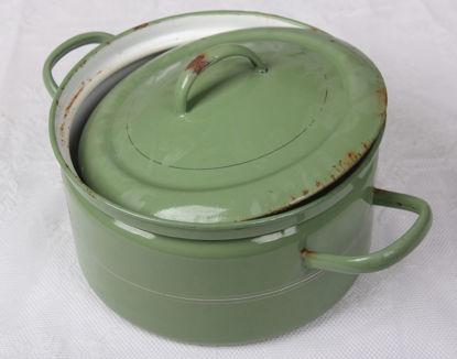 Afbeeldingen van Ouderwetse groene pan