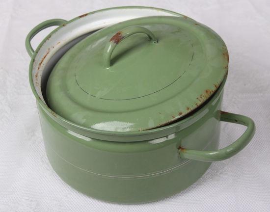 Afbeelding van Ouderwetse groene pan