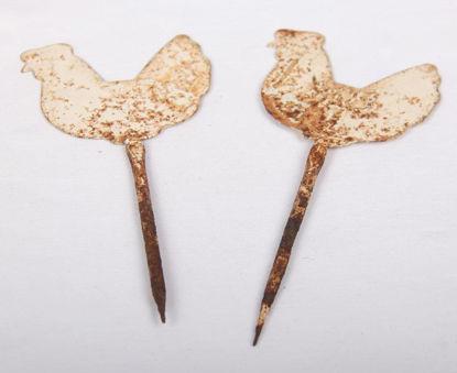 Afbeeldingen van Decoratieve steekpennen met kip