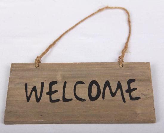 Afbeelding van Tekst bordje Welcome