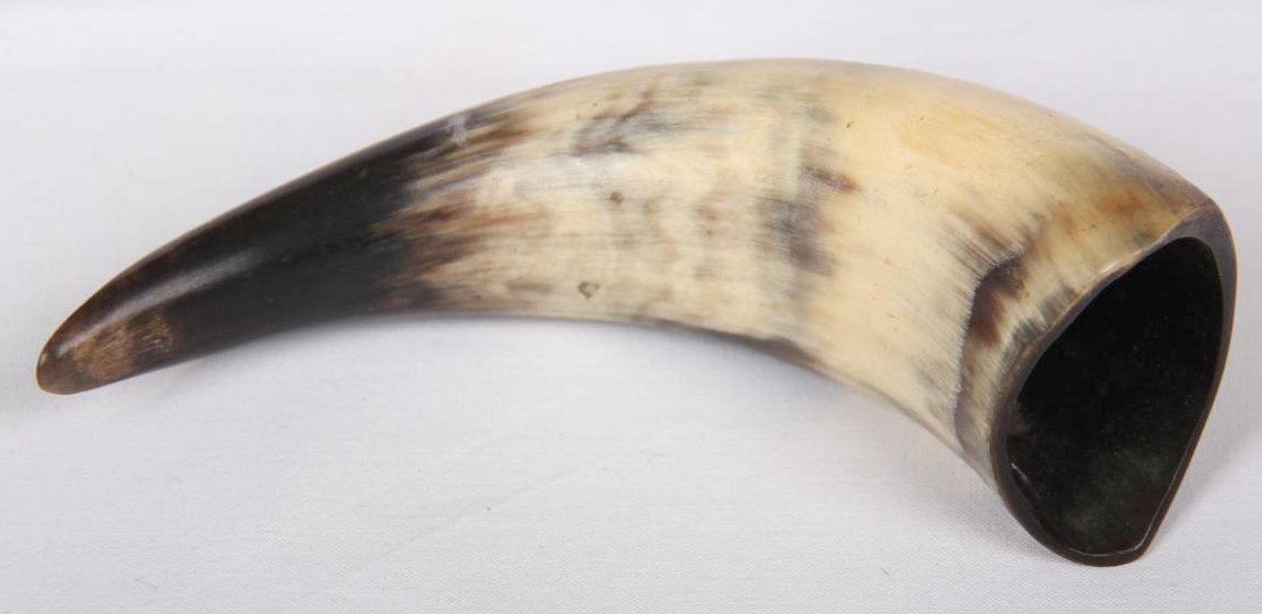 Afbeelding van Koeien hoorn zwart/bruin/wit