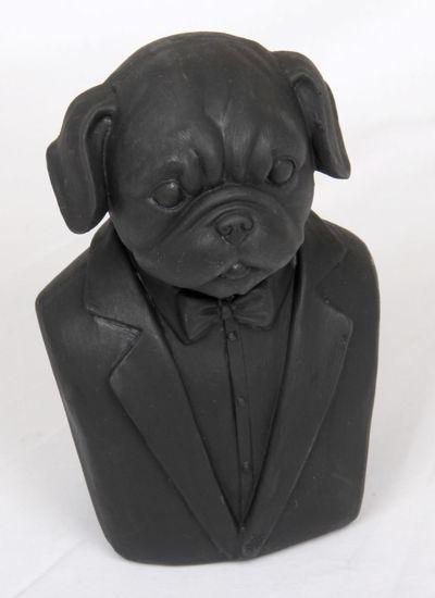 Afbeelding van Houten hondenkop beeld Boxer