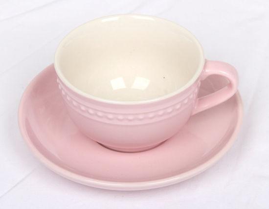 Afbeelding van Roze kop en schotel