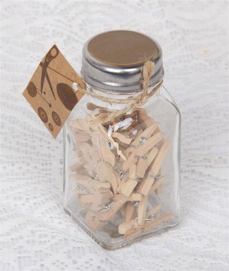 Afbeelding van Flesje met mini knijpertjes