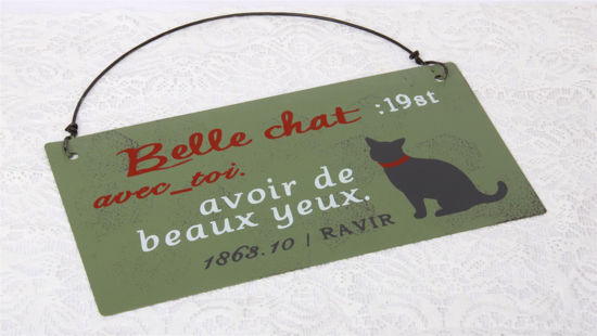 Afbeelding van Metalen bord kat