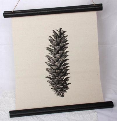 Afbeeldingen van Canvas doek dennenappel