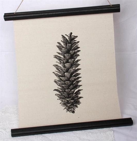 Afbeelding van Canvas doek dennenappel
