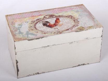 Afbeeldingen van Decoratieve kist met haan