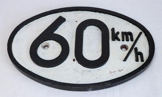 Afbeelding van IJzeren bord 60 km