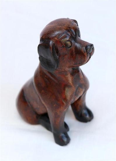 Afbeelding van Houten honden beeldje