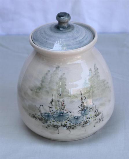 Afbeelding van Decoratieve pot met deksel
