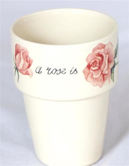 Afbeelding van Melkbeker Jet a Rose is a rose