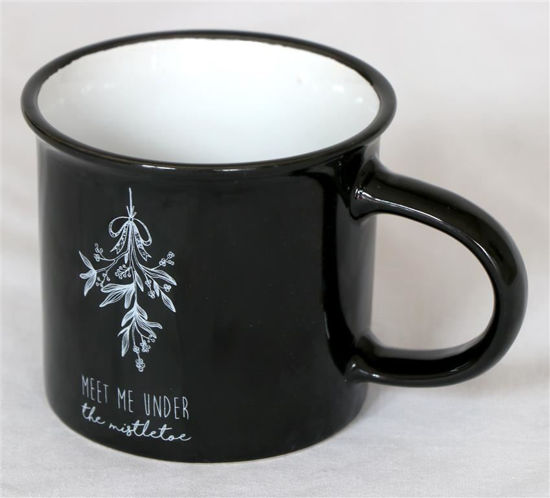 Afbeelding van Kerstmok zwart