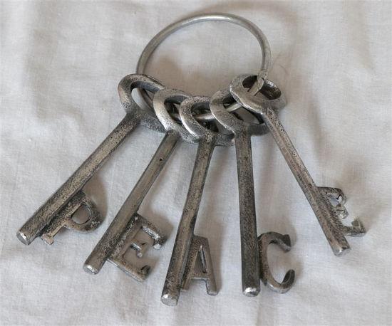 Afbeelding van Bos decoratieve sleutels