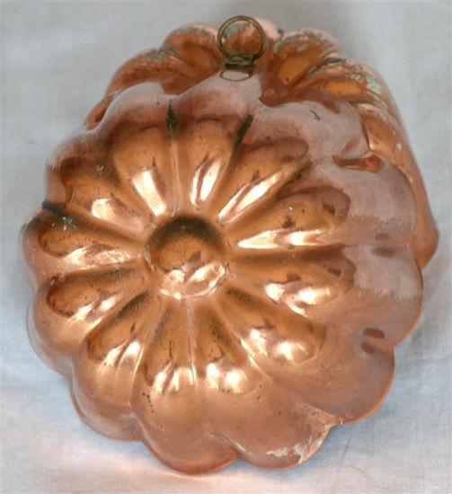 Afbeelding van Koperen puddingvorm