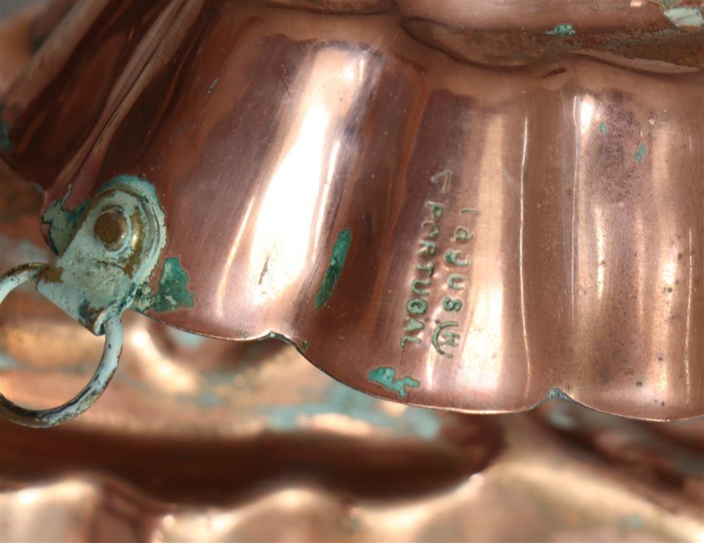 Afbeelding van Koperen puddingvorm vis