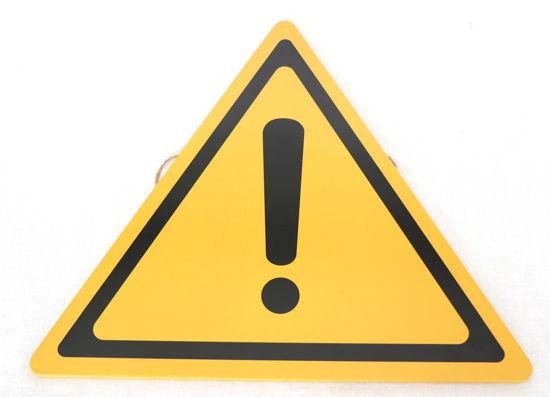 Afbeelding van Verkeersbord gele driehoek