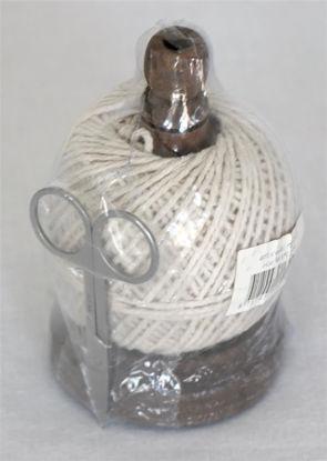 Afbeeldingen van Bolletje touw op standaard en schaartje