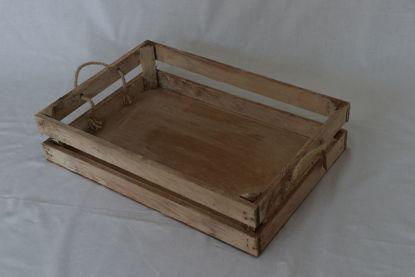 Afbeeldingen van Lage houten kist