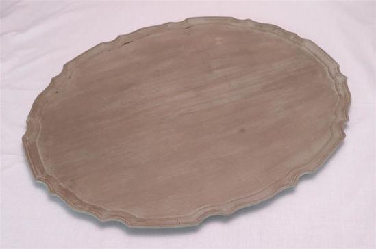 Afbeelding van Groot houten dienblad