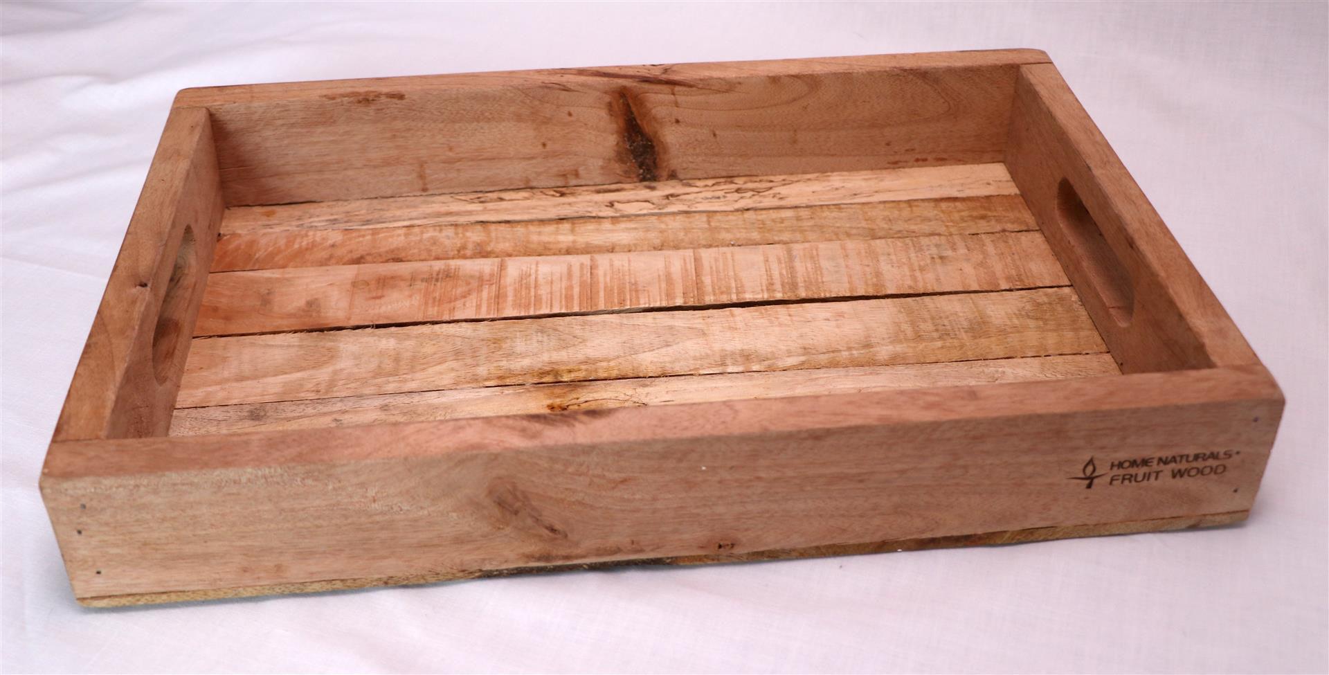 Afbeelding van Dienblad onbewerkt fruithout