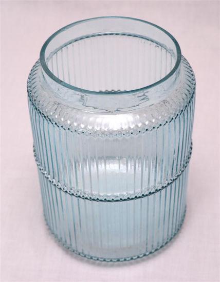 Afbeelding van Glazen blauwe vaas