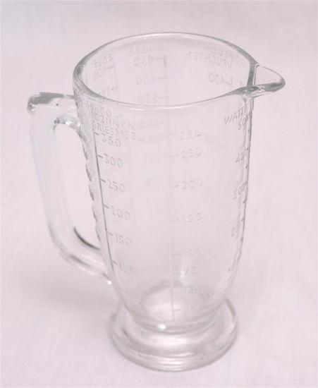 Afbeelding van Oude smalle glazen maatkan, halve liter