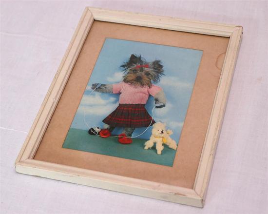 Afbeelding van Oud schilderijtje met hondje