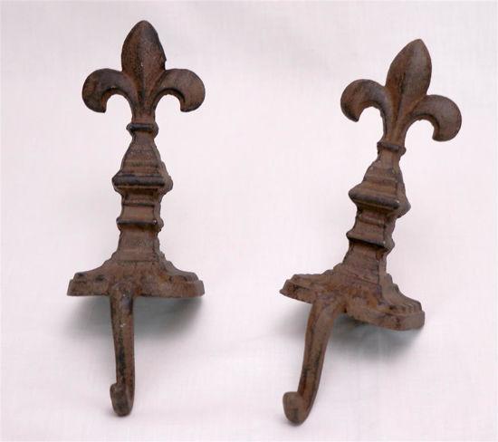 Afbeelding van Set Gietijzeren guirlande steunen of hangers