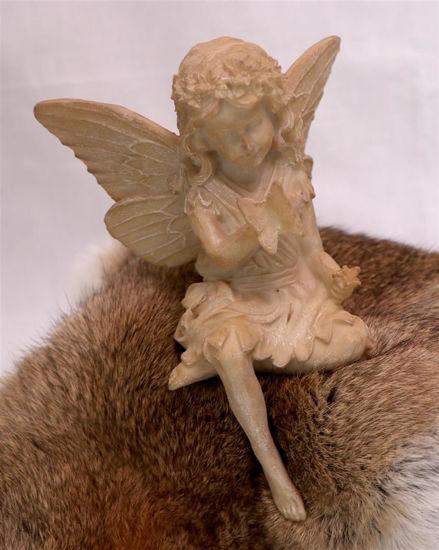 Afbeelding van Beeldje Engel met vlinder